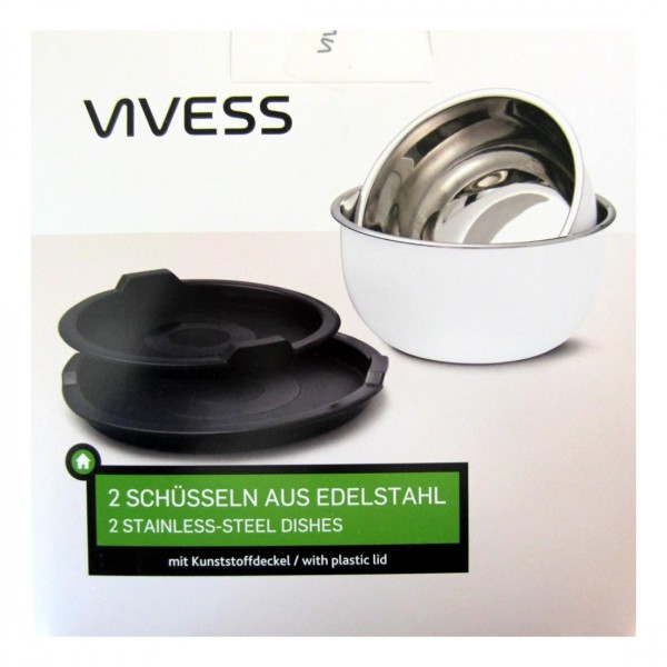 Vivess bowl stainless steel 2 piece