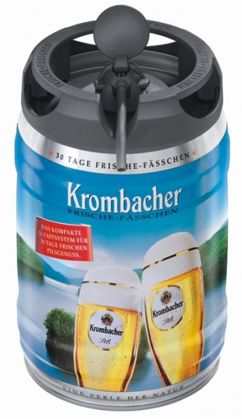 Krombacher Pils Freshness Keg, 5 liters 4.8% vol party keg