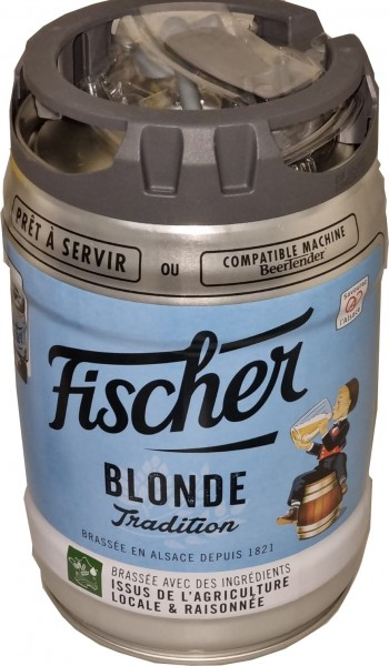 Fischer beer blonde 5 liters 6.0% vol. with tap Party keg DISPOSABLE