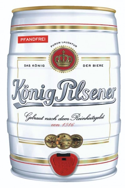 Koenig King Pilsener 5 liter party keg 4.9% vol