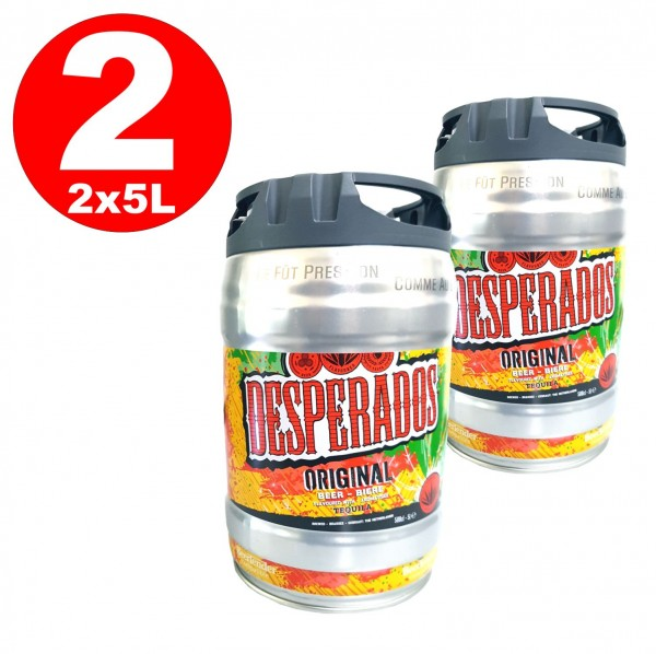2 x Desperados beer with Tequila in 5 liter keg incl. Spigot