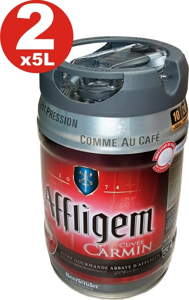2 x Affligem Cuvée Carmine keg 5-liter drum incl. Spigot 5.2% vol.