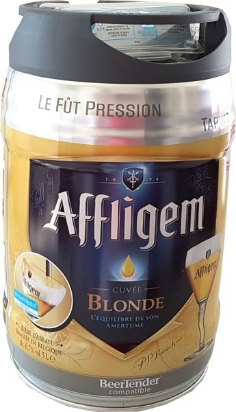 Affligem blonde keg 5-liter drum incl. Spigot 6.8% vol.