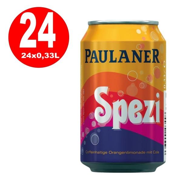 24 x Paulaner Spezi 0,33L can disposable