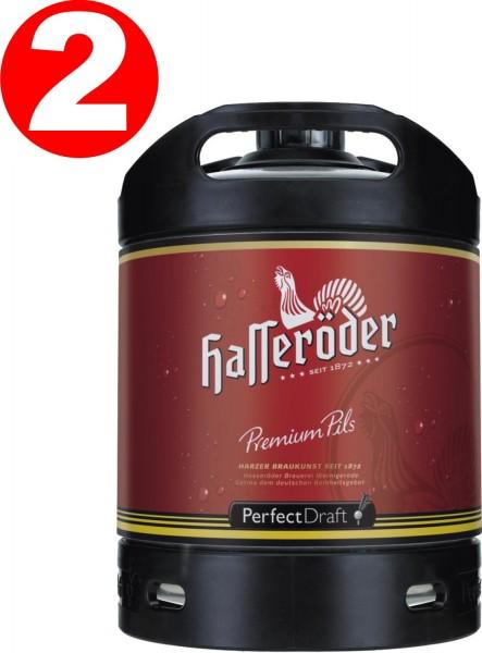 2 x Hasseroeder beer Perfect Draft Premium Pils 6 liter barrel 4.9% vol.