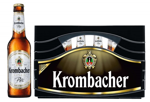 24 x Krombacher Pils 0,33L 4,8% vol.Original box