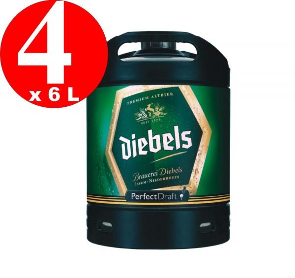 4 x Diebels Alt Perfect Draft barrel 6 liters of 4.9% vol.