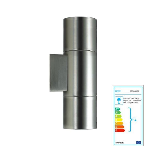 Better Lighting Lisboa - BT7114B SS - stainless steel wall lamp Outdoor