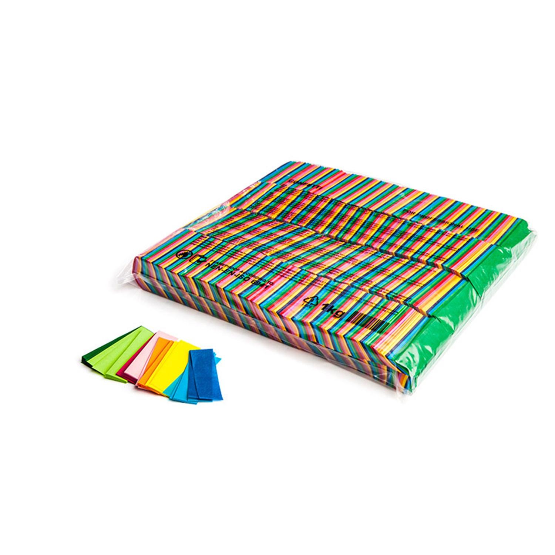 MAGICFX Slow Fall confetti rectangles 55x17mm - Multicolour confetti  rectangular