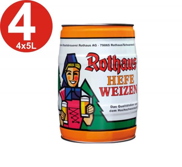 4x Rothaus Hefeweizen 5L keg 5,4% vol