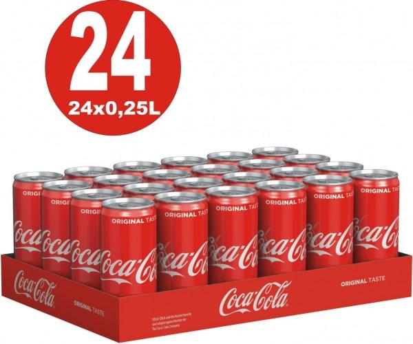 24 x Coca-Cola Classic 0.25L small cans