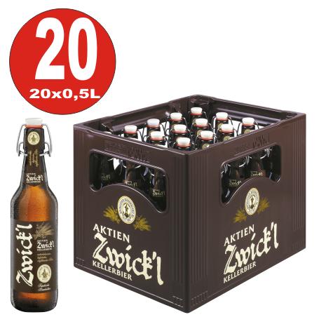 Shares Zwick'l Kellerbier 20 x 0.5 liter 5,3% vol.