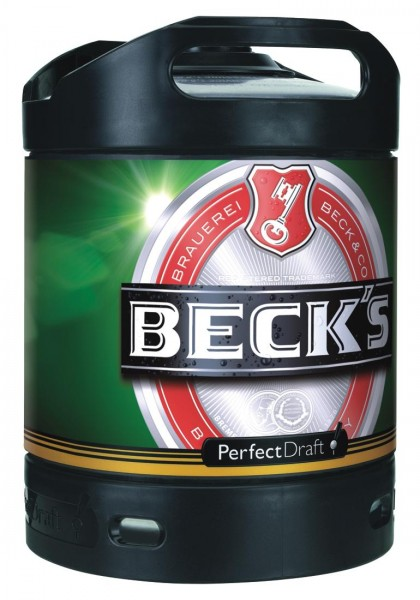 Becks Pils beer Perfect Draft 6 liter keg 4.9% vol.
