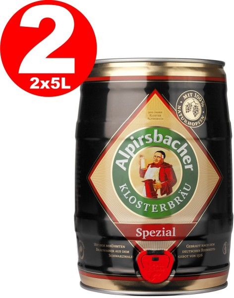 2 x Alpirsbacher Special 5,2% vol. 5 liters of party barrel