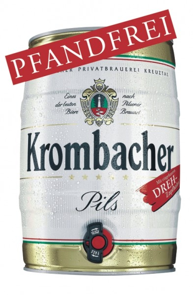 2 x Krombacher keg 5 liters of 4.8% vol