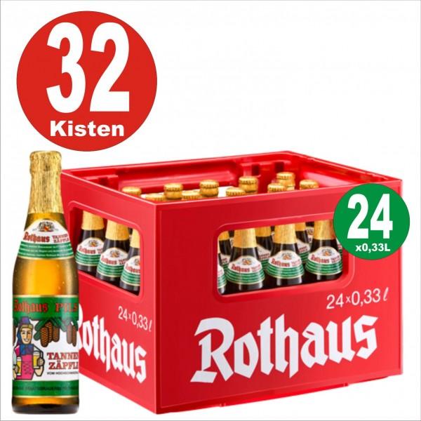 32 boxes = 24 x Rothaus Tannenzaepfle 0.33 L - 5.1% alcohol Original box-on Euro pallet