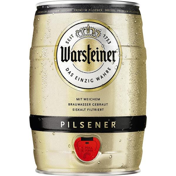 2x Warsteiner Pils 5 L Party Box 4.8% vol.