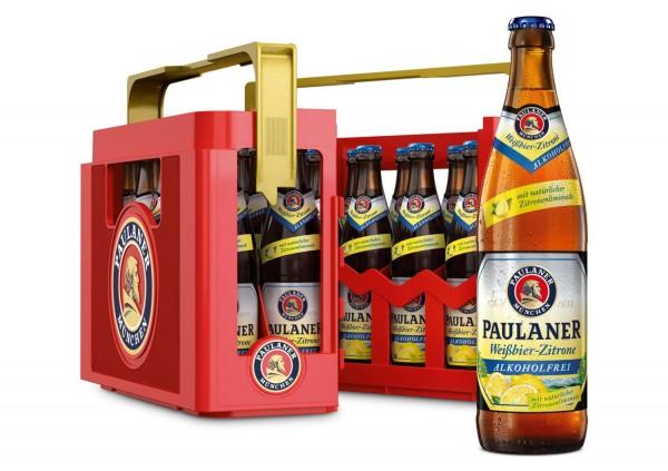 20 x Paulaner Weissbier lemon 0.5 L Alcohol Free original case