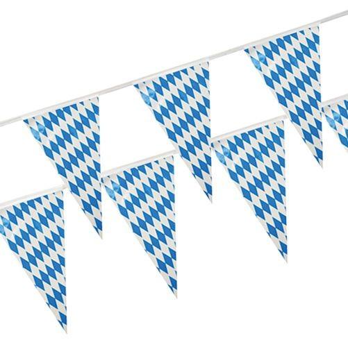 """1 x 10 m Kunststoof pennant chain """"Freistaat Bayern"""" 10 meters long"""