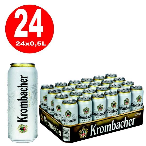 24x0,5L cans Krombacher Pils 4.8% Vol. _ one way