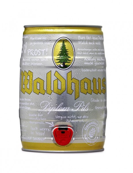 Waldhaus diplom pils 5 liters 4,9% vol. Party keg