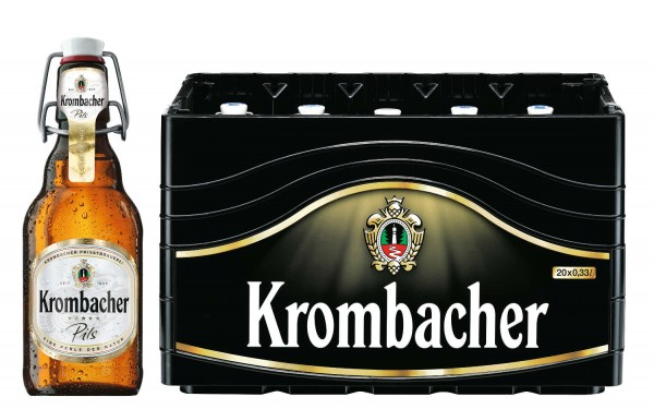 20 x Krombacher Pils 0,33l, Ironing bottle 4,8% vol Original box