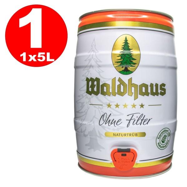 Waldhaus sin Filter Naturtrüb 5 L party keg 5.6% vol. La cerveza de los hombres