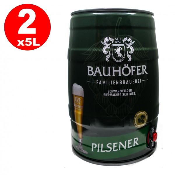 2 x Ulmer Pilsner Party barrel 5,0 liter 5,2% vol.