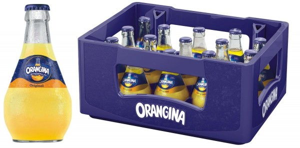 15 x Orangina lemonade yellow 0,25l glass bottle in original box