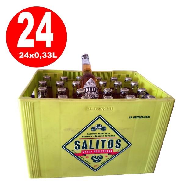 24 x Salitos Cerveza Premium Lager Beer 0.33L 4.7% vol.alc. MULTIWAY