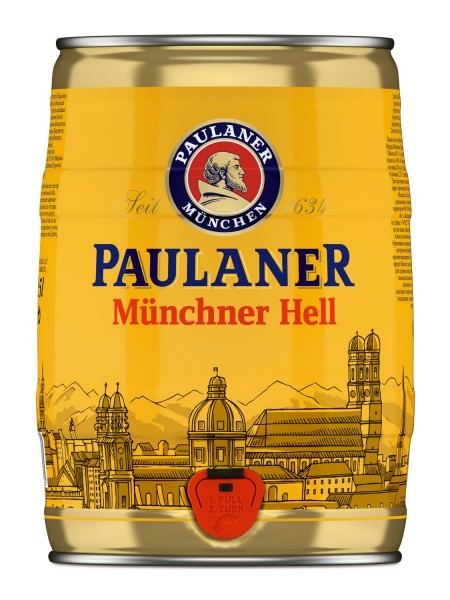 Paulaner Muenchner Hell 5 liters of 4.9% vol party box