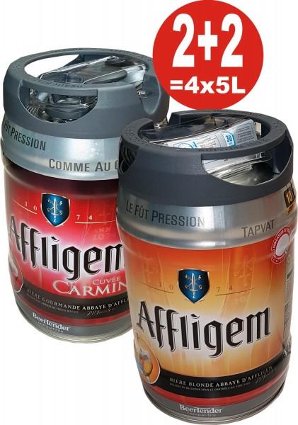 2 x Affligem blonde 2 x Affligem Cuvée Carmine 5 liter keg incl. Spigot