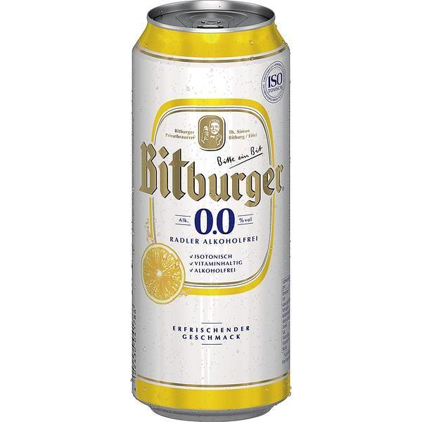 2 x Bitburger Radler 24 x 0.5L = 48 cans ALCOHOL FREE beer with lemon flavor_INWAY