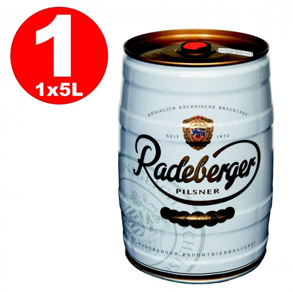 Radeberger Pilsener 5 liter party keg 4.8% vol - disposable