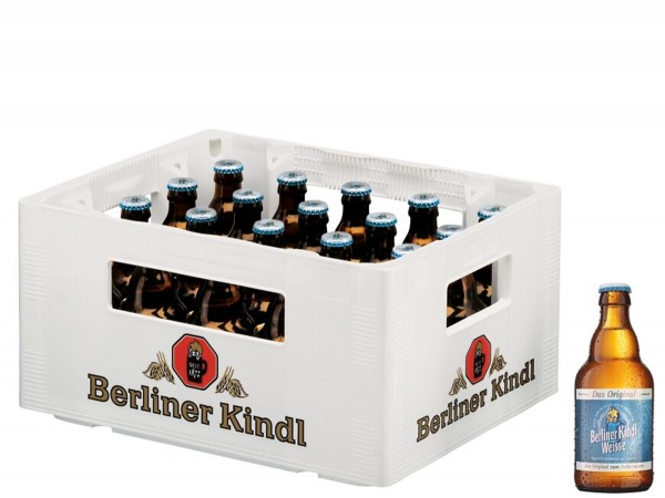 20 x Berliner Kindl Weisse The original 0,33L 3,0% vol. Original box