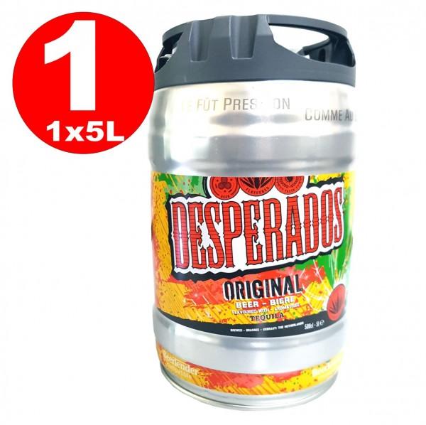 Desperados beer with Tequila in 5 liter keg incl. Spigot