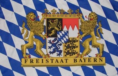 Flag Bavaria with Free State coat of arms 90 x150 cm