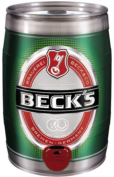 Beck's Pils 5 liter tin Party 4.9% vol