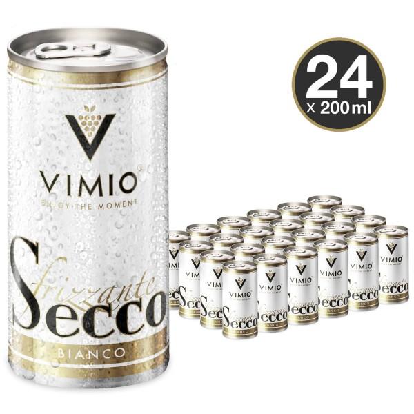 24 x Vimio Frizzante Secco bianco 10.5% vol 200 ml can