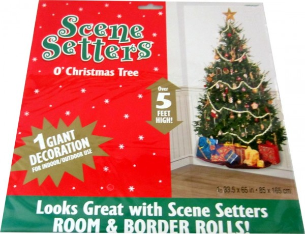 Scene Setter decoration window blind O 'Christmas Tree - Christmas ...