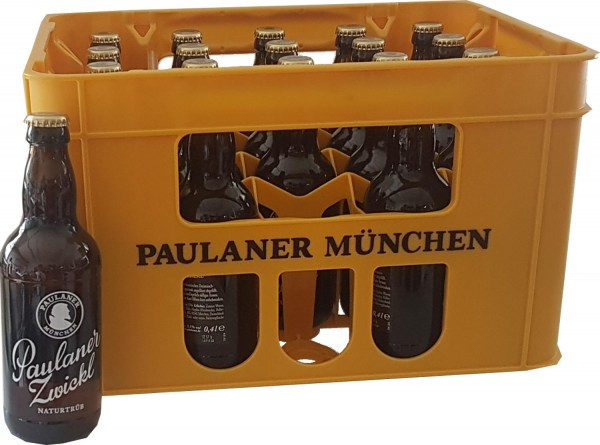 20 x Paulaner Zwickl natural opacity 0,4L 5,5% vol. Original box