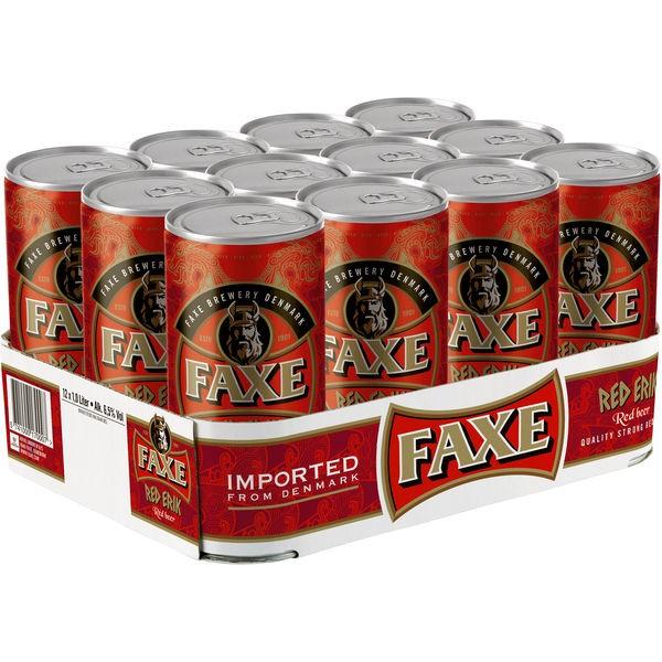 12 x Faxe Red Erik 6.5% vol 1 liter can