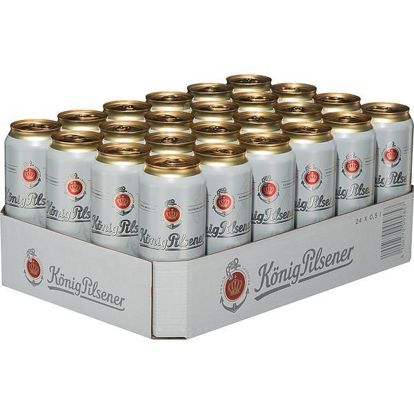 2 x König Pilsener 24 x 0.5L = 48 cans 4.9% vol._ ONE WAY