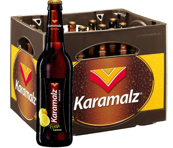 Karamalz Fresh Lemon Malt drink - alcohol free 20x0,5l - Original box