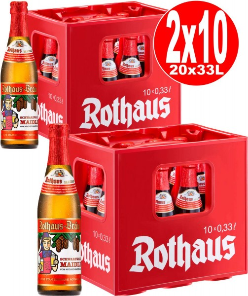 20 x Rothaus Black Forest Maidle 0,33L 5,1% vol. 2 x 10er original box