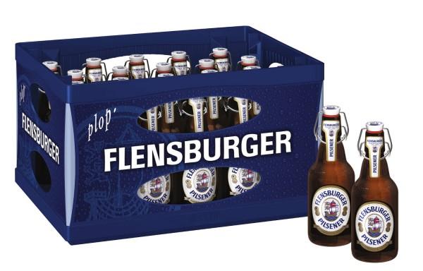 20 x Flensburger Pilsener 0,33l, ironing bottle 4,8% vol Original box