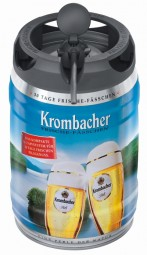 Krombacher Pils fresh kegs, 5 liters of 4.8% vol