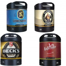4x beer keg Perfect Draft Different varieties 6 liters Alcohol see description