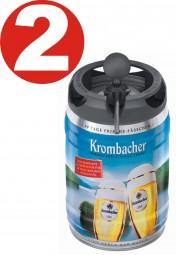 2 x Krombacher Pils fresh kegs, 5 liters of 4.8% vol