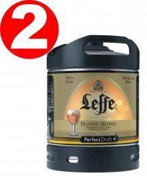 2 x Leffe beer blonde from Belgium Perfect Draft 6 liter barrel 6,6 % vol